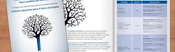 Díptico «Jornada sobre políticas educativas»